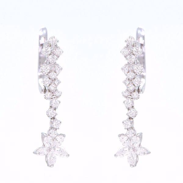 Picture of Fancy Diamond Flower Earrings