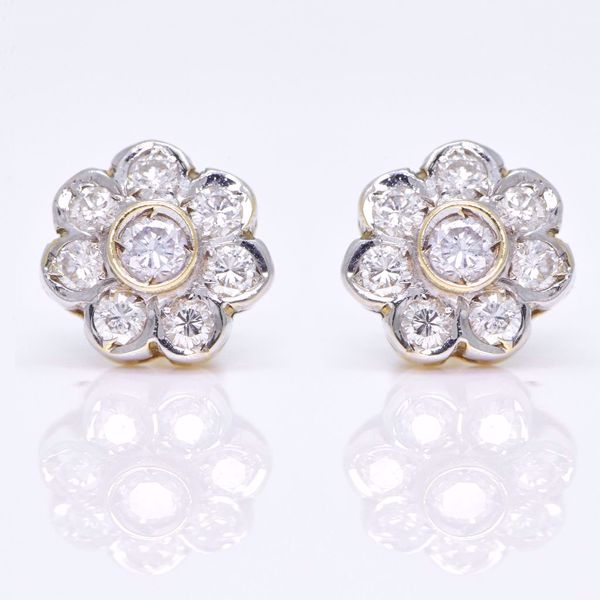 Picture of Diamond Flower Earrings