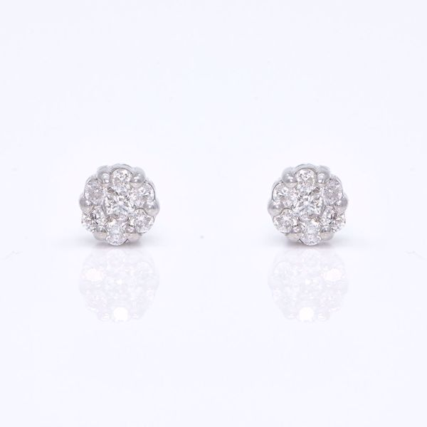 Picture of Tiny Diamond Illusion Earrings