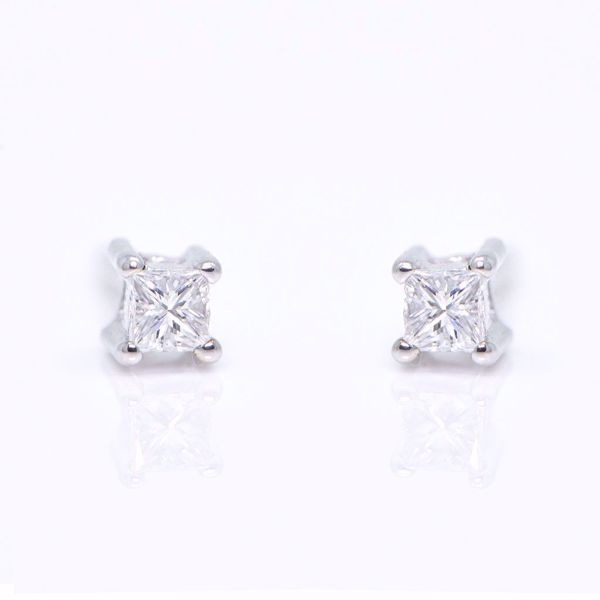 Picture of Tiny Diamond Earrings
