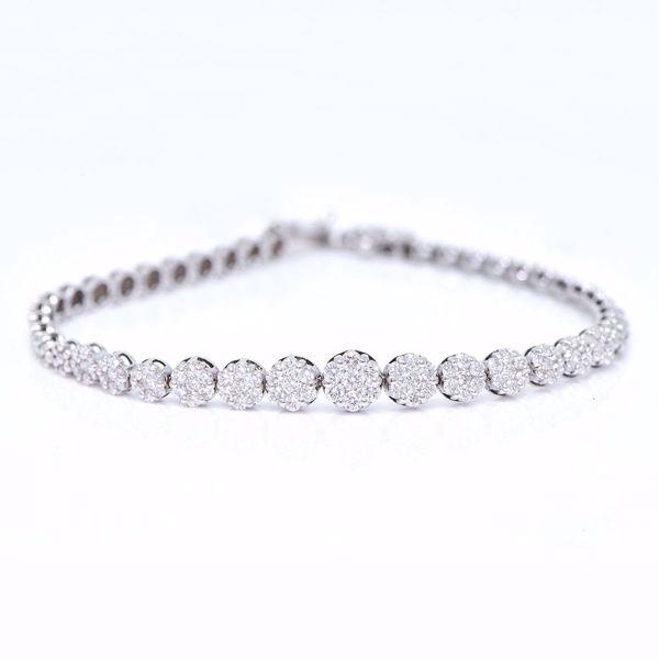 Picture of White Diamond illusion Bracelet