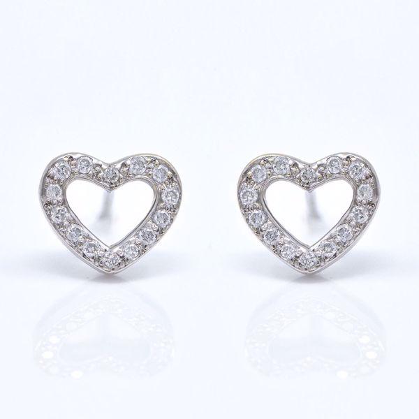Picture of Diamond Heart Earrings
