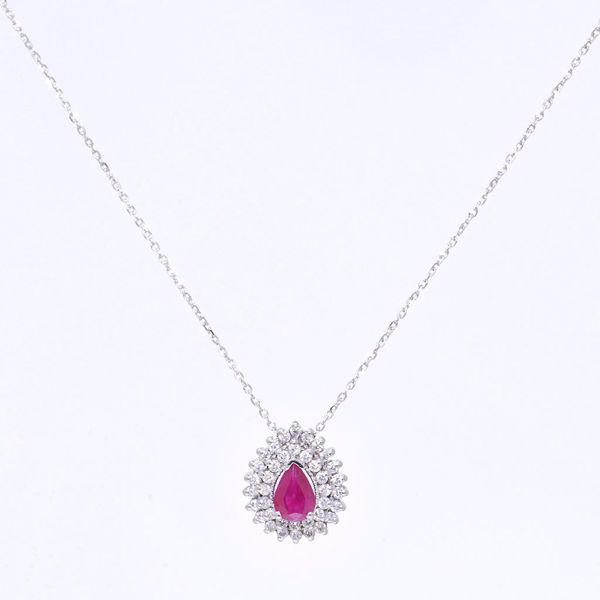 Picture of Charming Ruby & Diamond Necklace
