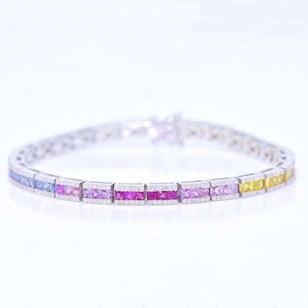 Picture of Fancy Colorful Diamond Tennis Bracelet