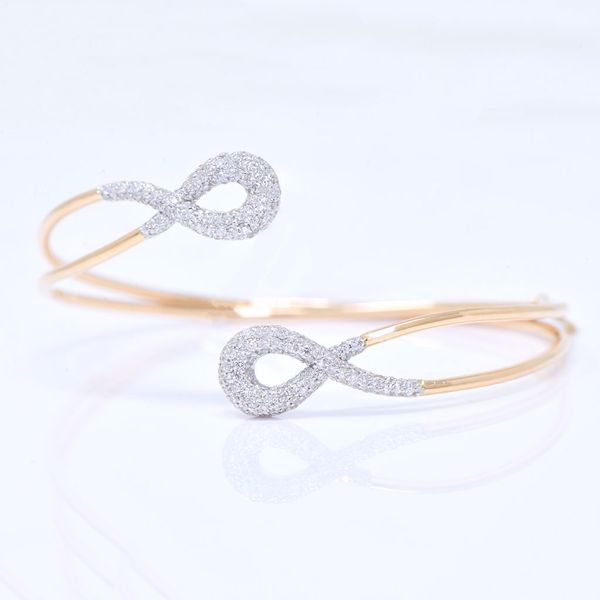 Picture of Infinity Diamond Bangle - JRS Handmade Jewelry Collection