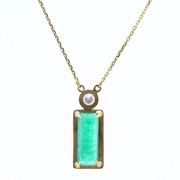 Picture of Emerald & Diamond Pendant - JRS Handmade Jewelry Collection